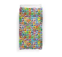 Cars 2 Flat Vehicle Isometric Duvet Cover