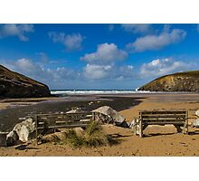 Twin Seats Mawgan Porth Photographic Print