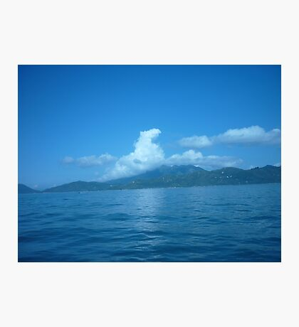 Cloud horse drifting over a island. Photographic Print