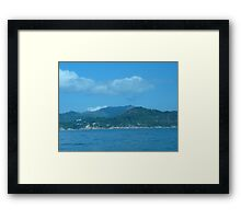 Snake cloud over waves of mountains Framed Print