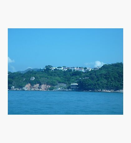 Mansions on top of island Photographic Print