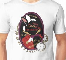 """I'm late"" Sticker Unisex T-Shirt"