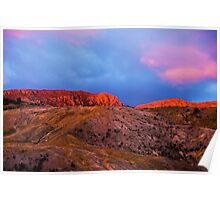 Mt Lyall, Queenstown, Tasmania, Australia, sunset Poster