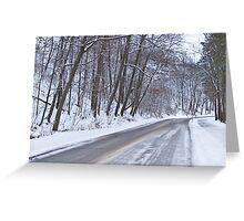 Winter Drive Greeting Card