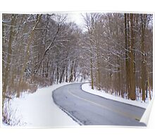 Snowy Drive Poster