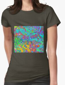 Psychedelic Spring Womens Fitted T-Shirt