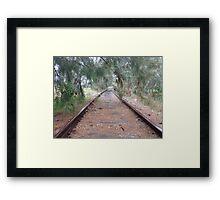 Disused rail line, Canowindra, NSW Framed Print