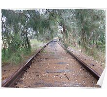 Disused rail line, Canowindra, NSW Poster