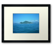 A tiny little island Framed Print