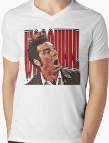 Shocked Kramer Mens V-Neck T-Shirt