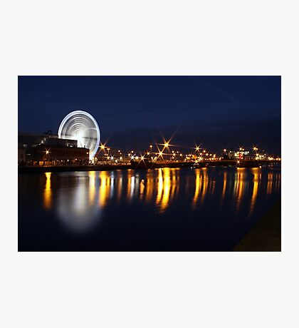 Dublin wheel reflections Photographic Print
