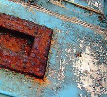 Old blue door by photicimage