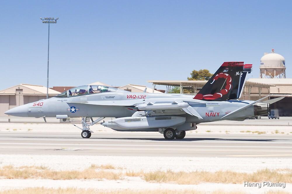 EA-18G Growler 166894 Landing by Henry Plumley