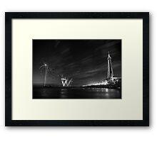 Palm Tree on the Pier - Fireworks @ Blackpool, Fylde, Lancashire Framed Print
