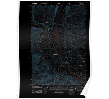 USGS Topo Map Washington State WA Wenatchee 20110604 TM Inverted Poster