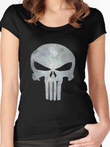 The Punisher Logo Women's Fitted Scoop T-Shirt