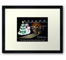 Holiday Overlap Framed Print