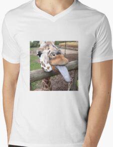 Funny Giraffe tongue - animal lovers Mens V-Neck T-Shirt