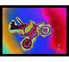 Flying biker II - Motor Cross - Flylng Mashines MW Art Photographic Print