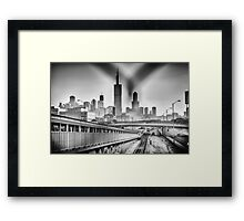 Thru a Gate Framed Print