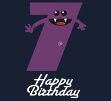 HAPPY BIRTHDAY 7 Kids Tee