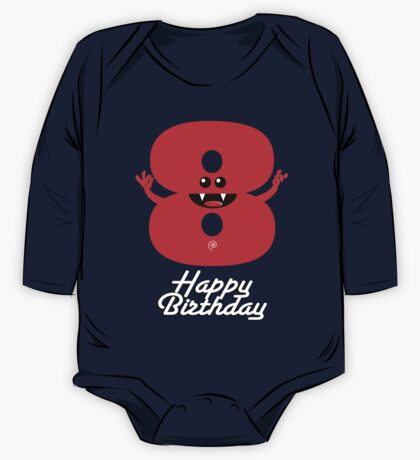 HAPPY BIRTHDAY 8 One Piece - Long Sleeve