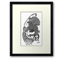 The Empress & Her Guitar Framed Print
