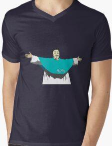 God is part of 99% Mens V-Neck T-Shirt