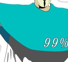 God is part of 99% Sticker