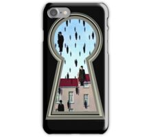 """Magritte from the lock"" iPhone Case/Skin"