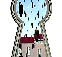 """Magritte from the lock"" by davide reteuna"