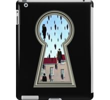 """Magritte from the lock"" iPad Case/Skin"