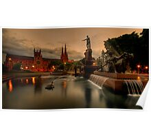 Archibald Fountain & St Mary Cathedral Poster