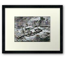 A digital painting of the Captain a double-screw armour-plated vessel Framed Print