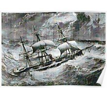 A digital painting of the Captain a double-screw armour-plated vessel Poster