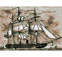 The Original Merrymac, when still  belonging to the United States Navy Photographic Print