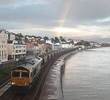 Dawlish Rainbow Freight Train by daynov