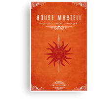 House Martell Canvas Print
