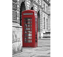 red booth Photographic Print