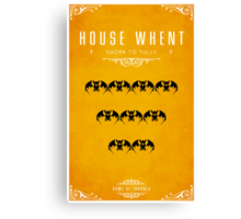 House Whent Canvas Print