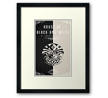 House of Black and White Framed Print