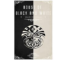 House of Black and White Photographic Print
