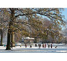 Snow fun under the tree Photographic Print