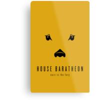 House Baratheon Minimalist Poster Metal Print
