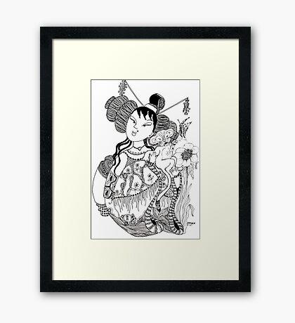 The Empress & The Tiger Cub Framed Print
