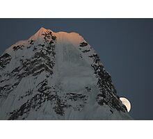 Moon is rising over Ama Dablam (Nepal) Photographic Print