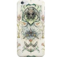 Antique pattern - Spider and Moths iPhone Case/Skin