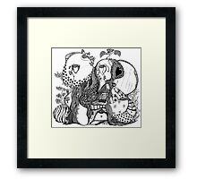 The Empress & Her Book Of Knowledge Framed Print
