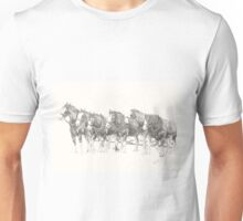 Clydesdales waiting to work Unisex T-Shirt