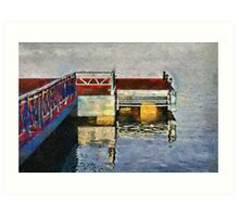 The Jetty, Jagua bay, Cienfuegos, Cuba Art Print